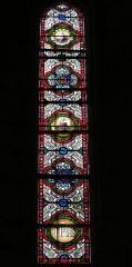 Eglise Saint-Germain - Deutsch: Bleiglasfenster in der Kirche Saint-Germain in Saint-Germain-les-Belles im Département Haute-Vienne in der Region Centre (Frankreich)