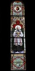 Eglise Saint-Germain - Deutsch: Bleiglasfenster in der Kirche Saint-Germain in Saint-Germain-les-Belles im Département Haute-Vienne in der Region Centre (Frankreich): Darstellung: hl. Jean-Marie Vianney