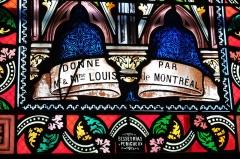 Eglise Saint-Germain - Deutsch: Bleiglasfenster in der Kirche Saint-Germain in Saint-Germain-les-Belles im Département Haute-Vienne in der Region Centre (Frankreich), Signatur: Besseyrias Perigueux
