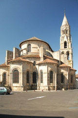 Eglise collégiale Saint-Léonard£ - Deutsch: Stiftskirche St.-Léonard-de-Noblat, von O, Chorhaupt u. Turm