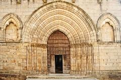 Église collégiale Saint-Léonard - Deutsch: Stiftskirche St.-Léonard-de-Noblat, Westportal, Erdgeschoss