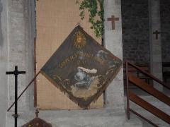 Eglise Saint-Sulpice - Français:   Bannière des cheminots dans l\'église \