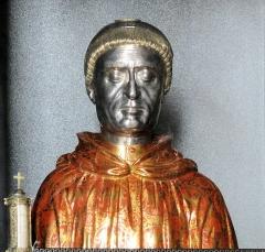 Eglise Saint-Sylvestre - Français:   Saint-Sylvestre (Haute-Vienne) - Buste reliquaire de saint Etienne de Muret
