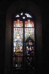 Eglise Saint-Sylvestre - Deutsch: Katholische Kirche Saint-Sylvestre in Saint-Sylvestre im Département Haute-Vienne (Nouvelle-Aquitaine/Frankreich), Bleiglasfenster