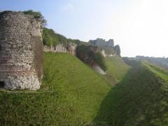Ruines du château -  remparts sud-ouest