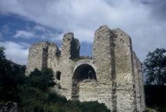 Ruines du château -  vue du château
