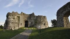 Ruines du château - Nederlands: De ingang en noordzijde van het kasteel van Arques-la-Bataille, Frankrijk