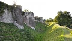 Ruines du château - Nederlands: Het kasteel van Arques-la-Bataille, Frankrijk - de oostzijde