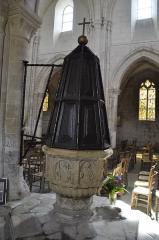 Eglise Notre-Dame - Nederlands: De doopvont van de Onze-Lieve-Vrouwekerk van Le Bourg-Dun, Frankrijk