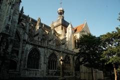 Eglise Saint-Jacques - English: Dieppe - Place Saint-Jacques - View NE on Église Saint-Jacques
