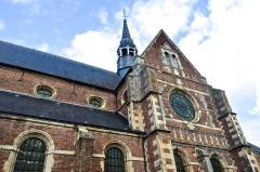 Collège de la Ville - Français:   Chapelle du collège des Jésuites d\'Eu (Seine-Maritime, France), côté sud, nef, transept et flèche.