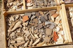 Vestiges archéologiques gallo-romains du lieudit Bois-l'Abbé - Français:   Objets trouvés durant les fouilles du site du Bois l\'Abbée, Eu