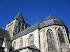 Ancienne abbaye - Français:   Chevet de l\'abbatiale de Montivilliers