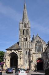 Ancienne abbaye - English:   Montivilliers (France, Normandy), abbey-Church, facade, 2013