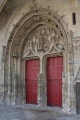 Ancienne abbaye - Français:   Abbaye de Montivilliers: porche de l\'église abbatiale.