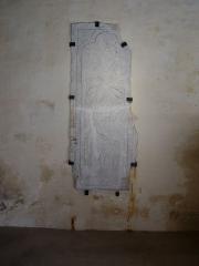 Ancienne abbaye - Deutsch:   Abtei von Montivilliers, Grabplatte eines frühen Pastors Datum: 02.05.2011 Urheber: M. Pfeiffer alias Gordito1869 Quelle: privates Fotoarchiv des Urhebers