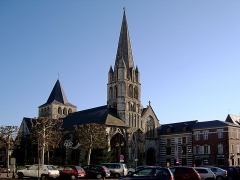 Ancienne abbaye -  L\'église abbatiale de Montivilliers (Seine-Maritime).