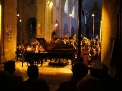 Ancienne abbaye - Français:   Orchestre André Messager, piano Raphaël Drouin, texte Dominique Preschez, direction Thierry Pélican