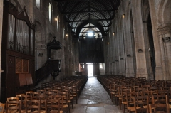 Ancienne abbaye - English:   Montivilliers (France,Normandy), nave of  Abbey-Church, 2013