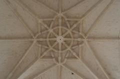 Ancienne abbaye - Français:   Abbaye de Montivilliers: clef de voûte de l\'église abbatiale.