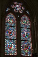 Eglise - Deutsch: Bleiglasfenster in der Kirche Notre-Dame in Neufchâtel-en-Bray im Département Seine-Maritime, Frankreich