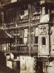 Ancienne abbaye de Saint-Amand -  House front, Gothic/Renaissance. Rouen. Unsigned. Dated August 20, 1855.