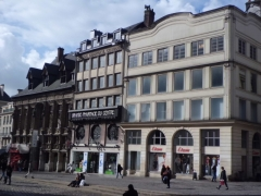 Ancien Bureau des Finances - English: Houses in front of the Rouen Cathedrale, Normandy