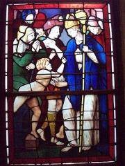 Eglise Saint-Godard - Vitrail de la vie de Saint-Nicolas, XVIe siècle, provenant de l'église Saint-Godard de Rouen.