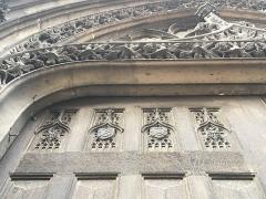 Eglise Saint-Godard - Rouen Saint-Godard détail du portail armoiries de Brézé