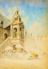 Fierte Saint-Romain ou chapelle Saint-Romain, à la Haute-Vieille-Tour - French painter