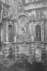 Gros-Horloge et fontaine -  Rouen (house front with fountain). Unsigned. Unknown date, but purchased before the collector's death in 1915.