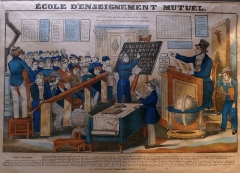 Maison de maître drapier, dite maison des Mariages ou maison Normande, ou maison des Quatre-Fils-Aymon, actuellement Musée national de l'Education -  Gravure lithographiée vers 1830
