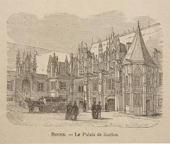 Palais de Justice - Quelqu'une des illustrations de l'ouvrage de Fernand Bertaux, Les Grandes Villes de France, chez Émile Gaillard éditeur à Paris