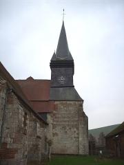 Eglise Saint-Martin - Français:   Clocher de l\'église de Sigy-en-Bray.