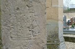 Eglise Saint-Martin -  Graffiti de l'église St Martin de Tours de Vatteville la Rue 5