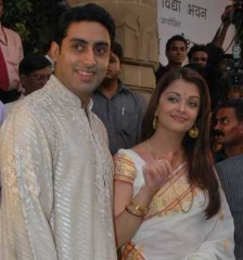 Ferme du Couvent - English: Abhishek and Aishwarya Rai Bachchan unveil the Madhushala book in Bengal