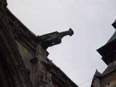 Eglise Saint-Ouen de Longpaon - Français:   Gargouille de l\'église Saint-Ouen de Longpaon, Seine-Maritime.