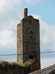Château d'Airvault - Français:   Les vestiges du donjon du château d\'Airvault, Deux-Sèvres, France