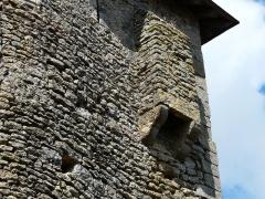 Château d'Airvault - Français:   Détail de la tour-porte, château d\'Airvault, Deux-Sèvres, France