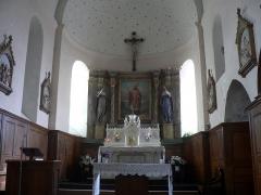Eglise Saint-Martin - Français:   Retable du XVIIIe de l\'Eglise Saint Martin de Glénay - Deux Sèvres