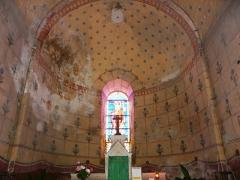 Eglise Saint-Hilaire - Français:   Le chœur peint de l\'église Saint-Hilaire de Gourgé, Deux-Sèvres, France