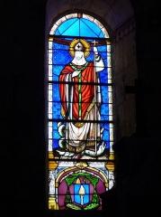 Eglise Saint-Hilaire - Français:   Vitrail représentant Saint Hilaire, église Saint-Hilaire de Gourgé, Deux-Sèvres, France