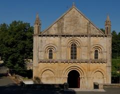 Eglise Saint-Hilaire - Église Saint-Hilaire de Melle, entrée principale