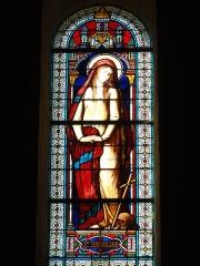Eglise Saint-Hilaire - English: Vitrail de Sainte-Marie-Madeleine. Église Saint-Hilaire de Melle, vitrail 01