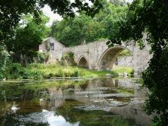 Pont sur le Thouet - Français:   Le Thouet en aval du pont roman de Saint-Généroux, Deux-Sèvres, France