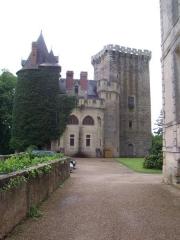 Domaine de Saint-Loup - Français:   Vieux château de Saint-Loup-sur-Thouet (79) et sa tour maîtresse.