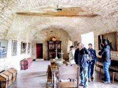 Château (ensemble du) - Ancien cellier du château de Belvoir. Doubs