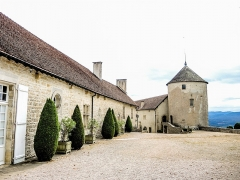 Château (ensemble du) - Français:   Cour et donjon du château de Belvoir. Doubs