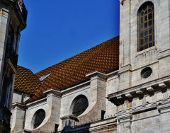 Eglise de la Madeleine - Deutsch: Dach von Ste. Madeleine, Besancon, Département Doubs, Region Frache-Comté (heute Burgund-Franche-Comté), Frankreich