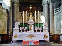 Eglise de la Madeleine - Deutsch: Hochaltar von Ste. Madeleine, Besancon, Département Doubs, Region Frache-Comté (heute Burgund-Franche-Comté), Frankreich